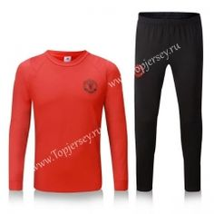 fe2b965c34c8d 2016-17 Manchester United Champions League Red Thailand Soccer Tracksuit Manchester  United Champions League