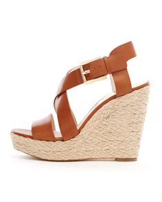MICHAEL Michael Kors  Giovanna Leather Espadrille Wedge Sandal.