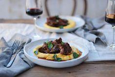 Slow-Braised Beef Cheeks in Barossa Shiraz with Soft Polenta - Maggie Beer