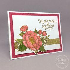 Mel's Card Corner   Tea Rose Birthday