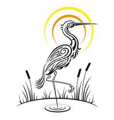 Heron bird background vector