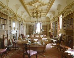 Long Library in Holkham Hall, England ~ designed by William Kent