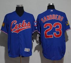 Cubs #23 Ryne Sandberg Blue Flexbase Authentic Collection 1994 Turn Back The Clock Stitched MLB Jersey