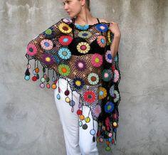 Butterflies of the Amazon...Women Accessories, 100% cotton, Colorful, Crochet…