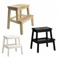 Ikea Bekvam Solid Beech Wood Kitchen Cupboard Step Stool - Wooden Step Ladder