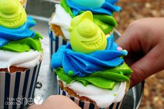Monsters University Cupcakes! How cute are these?