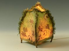 Coming Home handmade paper and twig lamp by wyldewoodpapers Paper Art, Paper Crafts, Lampe Applique, Paper Lanterns, Paper Lamps, Rustic Lanterns, Handmade Lamps, Paperclay, Fine Furniture
