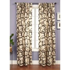 Softline Romulus Window Curtain Panel Latte/Chocolate - MTROLATTCHO96RP