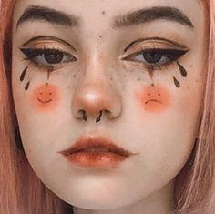 Indie Makeup, Edgy Makeup, Grunge Makeup, Eye Makeup Art, Crazy Makeup, Pretty Makeup, Kawaii Makeup, Alternative Makeup, Creative Makeup Looks