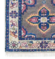Rugs - A stunning antique-inspired blue and pink Persian rug created in all our favorite hues. It is as luxurious underfoot as it is stylish. Dress it up with ...