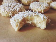 Made to Create: Raw Lemon Coconut Cookies Raw macadamia nuts, raw cashews, coconut, lemon juice, honey