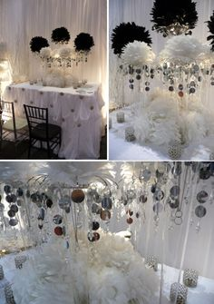 Genuis! Those green foam balls with artificial flowers as ...