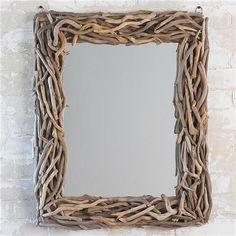 Rectangular Driftwood Mirror