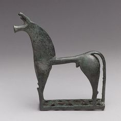 Statuette of a horse, 8th century B.C.; Geometric  Greek  Bronze