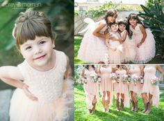 Galleano Winery Wedding. Peach Bridesmaid Dresses and Cowboys Boots