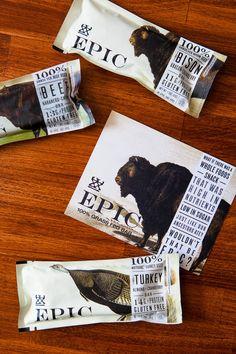 Epic   Paleo, gluten-free protein bar #packaging #branding