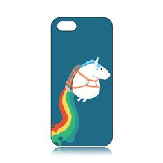 Fashionable And Cheap Fat Unicorn On Rainbow Pattern Case for iPhone5/5S BTG Is Designed With Top Quality And New Style!