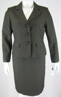 New with Tags Chocolate Brown Skirt Suit.  Free Shipping.  See at #www.justfashionsboutique.com
