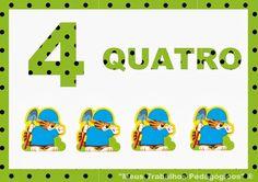 Meus Trabalhos Pedagógicos ®: Números de 0 a 10 - Poá verde