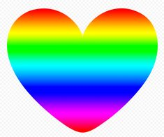 Love Png, Rainbow Heart, Graphics, Pictures, Free, Image, Photos, Graphic Design, Printmaking