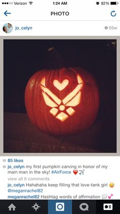 Military spouse Air Force Wife Pumpkin Carving! All things fall :)
