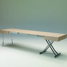 table extensible au format maxi !! Se positionne en version table haute ou table basse http://www.rangeocean.fr/nos-produits/table-multi-positions/table-up-et-down-magnum-legno-ozzio.html #table #mobilier