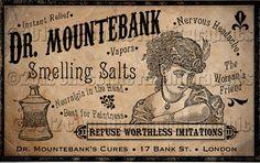 Victorian Vintage Label Advertisement