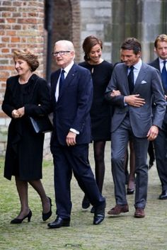 November at the memorial for Prince Friso, Dutch Princess Margriet (L-R), Pieter van Vollenhoven, and Princess Marilene and Prince Maurits arrive at the Old Church in Delft, The Netherlands.