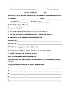 Plot diagram book report worksheet book report worksheets advanced book report worksheets ccuart Gallery