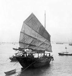 PAINTINGS OF CHINESE JUNKS | There are no comments for Hong Kong Harbor - Chinese Junk Boat - C ...