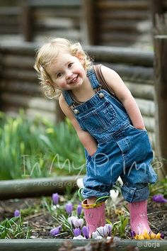 Baby Girl : Cool Girl Toddler Photography - Sweet Farmer Toddler Girl With Pink Boots And Jeans Romper Photo Inspirations