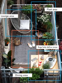 Stop neglecting your precious outdoor space and turn it into a beautiful private oasis with these brilliant small balcony ideas. Narrow Balcony, Apartment Balcony Garden, Small Balcony Design, Small Balcony Garden, Small Balcony Decor, Small Outdoor Spaces, Apartment Balcony Decorating, Outdoor Balcony, Apartment Balconies