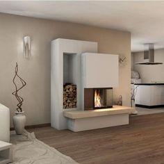 Kaminbausatz Spartherm Varia Kamin Einsatz – – My World Fireplace Kits, Fireplace Inserts, Modern Fireplace, Fireplace Design, Fireplace Furniture, Built In Bed, Pinterest Home, Deco Design, Bed Storage