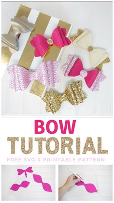 DIY Stacked French Hair Bow Tutorial - Create stunning layered faux leather bows with this free SVG cut file and printable pattern downloa - Making Hair Bows, Diy Hair Bows, Fabric Hair Bows, Handmade Hair Bows, Ribbon Hair Bows, Diy Hair Clips, Tulle Hair Bows, Ribbon Headbands, Diy Ribbon