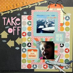 Ramblings of a Winnipeg Mommy: Take Off Layout. Pink Paislee Atlas.