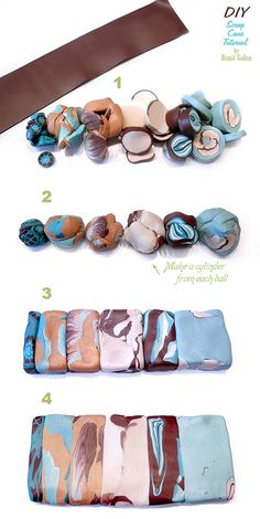 Ronit Golan - Polymer Clay Joy - Inspire to Create: Scrap Cane Tutorial