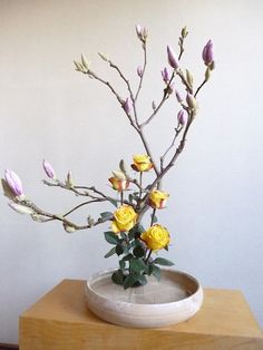 Flower: Ikebana inspired, and beautiful colors. Still, looking for something more autumnal.