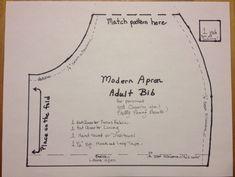 DIY Modern Apron or Adult Bib Charity Sewing Project – prettypennyprecuts Modern Aprons, Adult Bibs, Bib Pattern, Hook And Loop Tape, Lining Fabric, Free Sewing, Sewing Projects, Sewing Ideas, Sewing Patterns