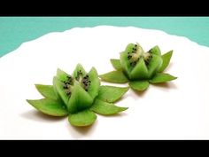 1 sculpture de fruit et légume: Comment Faire une Fleur de Lotus en Kiwi / How to Make a Lotus Flower with a Kiwi