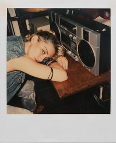 Madonna is urban chic here with her ghetto blaster, Follow me at Tiffany Says Hop Into My DeLorean (1) .