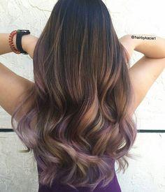 Lush ... by @hairbykacie1 #behindthechair #brunette #plumhair