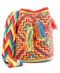 Orange-Multicolor Wayuu Bag