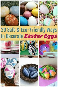20 wonderfully fun and eco-friendly ways to decorate eggs, then check out a few tips to help you come up with your own ideas. #ideas #easter #eggs #DIY #kids #crafts Easter Crafts, Crafts For Kids, Holiday Crafts, Holiday Ideas, Natural Parenting, Parenting Hacks, Parenting Toddlers, Easter Egg Designs, Easter Ideas