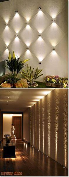 Staircase Lighting Ideas, Balcony Lighting, Home Lighting, Apartment Balcony Decorating, Hallway Decorating, Led Wall Lights, Ceiling Lights, No Ceilings, Small Balcony Design