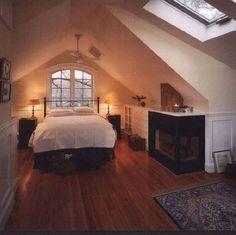 8 Persistent Cool Tips: Attic Remodel How To Build attic design living room. Attic Master Bedroom, Attic Bedroom Designs, Attic Bedrooms, Attic Design, Upstairs Bedroom, Attic Bathroom, Bedroom Ideas, Bedroom Decor, Bedroom Inspiration