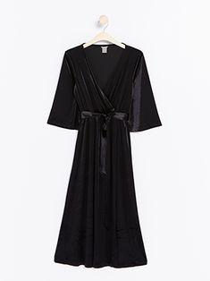 Sammetsklänning med strass | Lindex