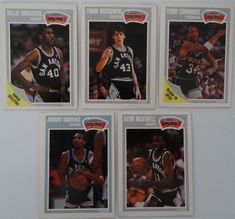 1989-90 Fleer San Antonio Spurs Team Set Of 5 Basketball Cards #SanAntonioSpurs