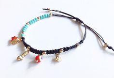 Red Evil eye Bracelet, Lucky charms, friendship bracelet, Gold Charm, Blue evil eye Bracelet, Jewish Gift, mal de ojo