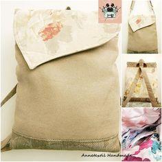 Pasztell rózsás többfunkciós hátizsák, táska Burlap, Reusable Tote Bags, Organization, Handmade, Getting Organized, Organisation, Hand Made, Hessian Fabric, Tejidos
