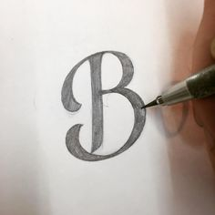 Capital B by Ged Palmer Hand Lettering Fonts, Script Lettering, Capital B, B Tattoo, Real Estate Logo, Letter B, Calligraphy Letters, Initials, How To Draw Hands
